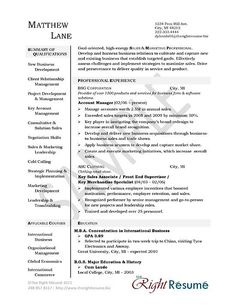 Sales Account Manager Resume Example  Sample Resume Resume