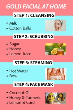"You don't need to go to a salon every time you need a golden shine on your face. All you need is some easy-to-get natural ingredients and some ""me time"" to finish off that golden facial. Clear Skin Face Mask, Face Skin Care, Diy Face Mask, Beauty Tips For Glowing Skin, Clear Skin Tips, Homemade Skin Care, Homemade Facials, Skin Care Routine Steps, Skin Care Remedies"