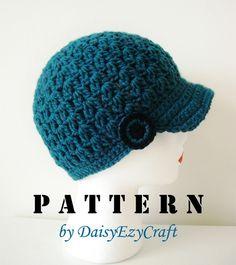 Symbole Crochet PATTERN et Colorful images étape par étape - format PDF - chapeau au Crochet avec bouton