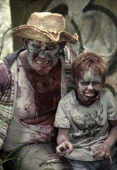 Father & son zombie hillbillies! Really warms the heart......LOL