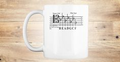 Discover Flats In Tenor Clef (Mug) Mug from Anderson Surreal Graphics only on Teespring - Free Returns and 100% Guarantee - True aficionados of music will love this one....