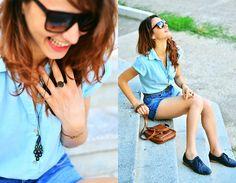 Bata Blue Oxford, Meli Melo Necklace, Meli Melo Ring, God Knows! It Was A Gift :) Copper Bracelet, Carrera Square Glases