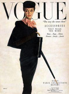 myvintagevogue.tumblr.com / Jean Patchett / Vogue Cover March 1950