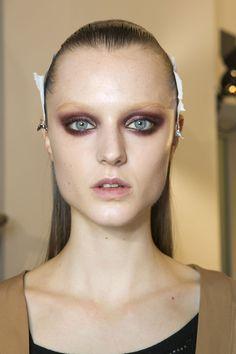 #sickly #avantgarde #avant #garde #fashion #bruise #tired #makeup #mascaraless telojuropordior:    Gucci fall 2013, backstage.