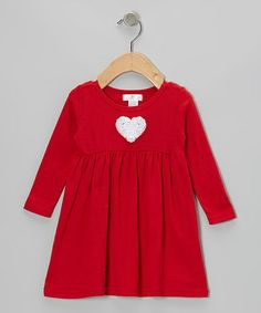 Take a look at this Red & White Heart Dress by Truffles Ruffles on #zulily today!