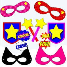 Superhero Photo Booth Props, Party Printables - Instant Download Photo Props Signs, Kids Birthday, Boys Birthday, Super Hero Party Decor on Etsy, $4.00