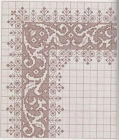 Embroideries, works and hundreds of cross-stitch patterns of all types, free: Great collection of patterns in Assisi point Biscornu Cross Stitch, Cross Stitch Borders, Modern Cross Stitch Patterns, Cross Stitch Charts, Cross Stitch Designs, Cross Stitching, Motifs Blackwork, Blackwork Embroidery, Modern Embroidery