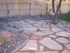 Landscaped back yard area, Phoenix, Arizona/ thinking of this for part of my yard