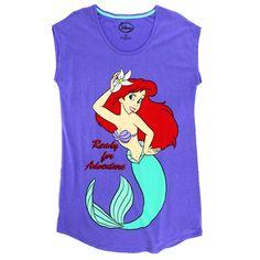 Disney The Little Mermaid Ariel Womens Plus Size Nightgown Pajamas. www.YankeeToyBox.com #yankeetoybox #ytb #disney #littlemermaid #ariel #plussize