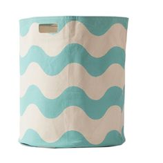 Sky Blue Wave Hamper - this cotton hamper is not only sturdy, but we love the fab design! #PNshop