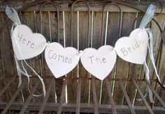 Here Comes The Bride Sign for Flower Girl or by sweettomyheart, $44.99