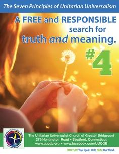 Fourth principle of Unitarian Universalism