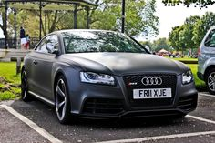 hell... matte black Audi RS 5