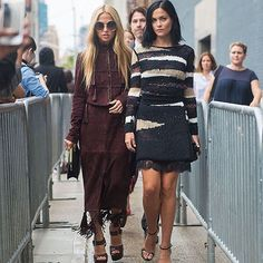 Instagram 1965: - @leighlezark : Zoe, head up! Kamel is ahead. - @rachelzoe : who? - Leigh: Kamel. Head up! - Rachel: Kamel who? - Leigh: Kamel, from Style and the City. Head up! - Rachel: which city? - Leigh: Paris, New York. It doesn't matter. Head up! - Rachel: confusing. - Leigh: head up Rachel. Kamel is watching us. Smile. - Rachel: Why is he watching us?  CLIC!   - Leigh: never mind