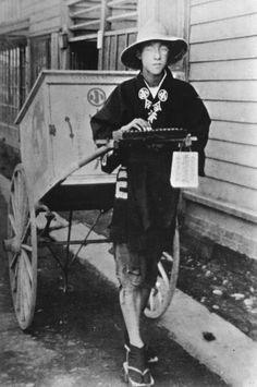Josei Toda working as an apprentice in Sapporo, 1917.