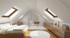 If you are lucky enough to have an attic in your home but haven't used this space for anything more than storage, then it's time to reconsider its use. An attic Attic Master Bedroom, Attic Bedroom Designs, Attic Bedrooms, Loft Conversion Bedroom, Attic Conversion, Attic Loft, Loft Room, Attic Office, Attic Renovation
