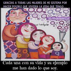 Gracias a todas las mujeres de mi sistema...