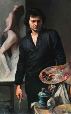 Gianni Strino, self-portrait -  Gianni Strino was born in 1953 in Naples, Italy where he currently resides. Strino studied fine art at the acclaimed Naples Art Institute winning the medal for the best graduate artist in 1970.After completing his studies at the Neapolitan Artistic Lyceum, he enrolled at the Faculty of Architecture. He taught art and art history in various state schools until the demand for his work allowed him to become a full time artist.
