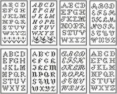 Colección de letras en punto de cruz de diferentes estilos y con todos los detalles para que puedan ser reproducidas en tus bordados. Hay una primera tanda de letras en punto de cruz que están en un sólo color y…