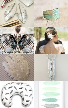 Feather treasury by margheritka on Etsy--Pinned with TreasuryPin.com