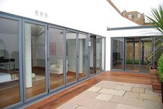 Grey Aluminium BiFold doors by Admiral Homespace, via Flickr