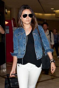 Mila Kunis in denim jacket