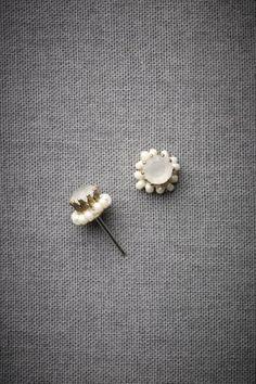 So pretty & sweet!  BHLDN smallest cloudbank earrings.