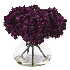Nearly Natural Purple Artificial Hydrangea Flowers at Lowe's. Petite blooming hydrangea bundles in brilliant autumnal colors welcome the new season. Handcrafted and finely shaped, the mixed hues of this arrangement
