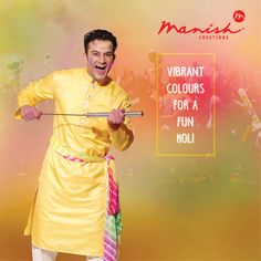 Holi is in the air! Take the celebrations up by a notch, by being your most vibrant self! Enjoy the sweet treats, filmy dances, colour splashes and fun memories! Happy Holi guys!‪#‎ManishCreations‬ ‪#‎Indianwear‬ ‪#‎Sherwani‬ ‪#‎IndoWestern‬ ‪#‎KurtaJacket‬ ‪#‎Kurta‬ ‪#‎SemiIndo‬ ‪#‎Suit‬ ‪#‎Pathani‬ ‪#‎Safa‬ ‪#‎Kilangi‬ ‪#‎KamarBandh‬ ‪#‎Broach‬ ‪#‎Mala‬ ‪#‎Dupatta‬ ‪#‎HoliHai‬ ‪#‎HappyHoli‬