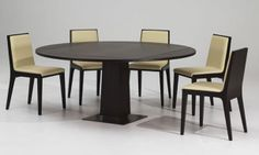 Modern Round burl wood dining table | Modern Wooden Dining Table 2011