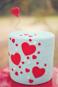 Sweet hearts cake for a Valentine's Day or Rockabilly themed wedding:: Red themed wedding cake:: Sweet Hearts for newlywed Sweethearts!