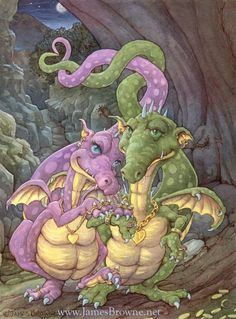 Fairy and fantasy art images, fairy pictures & drawings, flower and butterfly illustrations from Fairies World. Fairies World, Fairy & Fantasy Art Gallery - Dragons/©James Browne Rich in Love© Fantasy Dragon, Dragon Art, Baby Dragon, Dragon Ball Z, Magical Creatures, Fantasy Creatures, Fantasy World, Fantasy Art, Dragon Pictures
