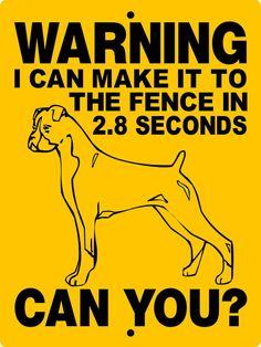 BOXER Dog Sign 9x12 ALUMINUM by animalzrule on Etsy, $12.00