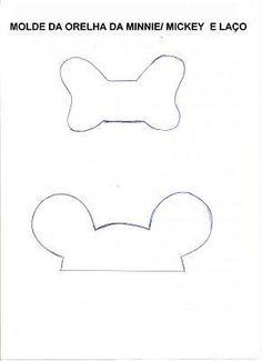 ARTESANATO COM QUIANE - Paps,Moldes,E.V.A,Feltro,Costuras,Fofuchas 3D: idéias para festa Minnie e Mickey com moldes