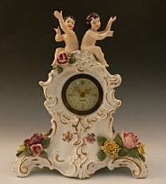 Antique Dresden Cherub Clock