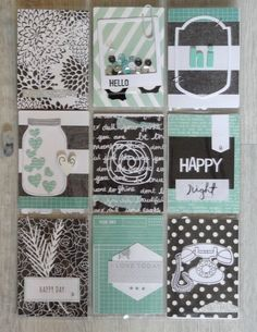 BLACK & MINT PEN PAL POCKET LETTER - PL de Natyfscrap pour Scrapgrit1
