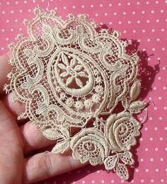 Antique Lace Vintage Lace Trim Guipure Lace by dishyvintage