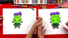 How to draw a cartoon Frankenstein! Frankenstein Art, Scary Drawings, Art For Kids Hub, A Cartoon, Halloween Art, Drawing For Kids, Holiday Fun, Fantasy Art, Logos