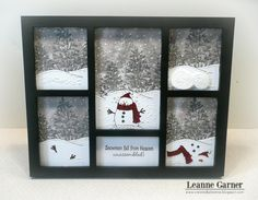 Created By Leanne: Snowman Picture Frame