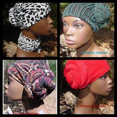Quinettes-Prewrapped Bun in The Back Natural Hair Accessories Virtuous Creations