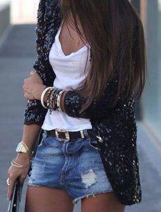 Jeans, camiseta e blazer!