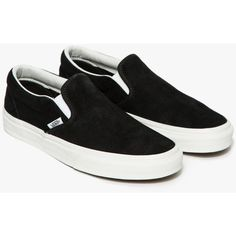 31c7dac67b1c Vans Classic Slip-On Black Lizard ( 60) ❤ liked on Polyvore featuring shoes