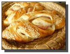 Šunkové rohlíky Pan Bread, Bagel, Hamburger, Pizza, Recipes, Food, Meal, Eten, Hamburgers
