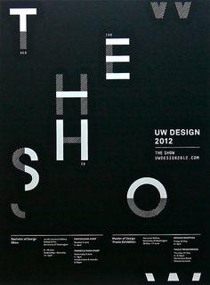 The 2012 UW Design Show poster.