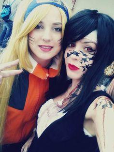 Beautiful and Amazing Naruko and Sasuko Cosplay By MiikHyDeafening #naruto #cosplay #costume