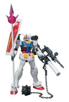 "Amazon.com: Bandai Tamashii Nations Robot Spirits #78-2 Gundam RX-78-2 (Hardpoint Spec) ""Mobile Suit Gundam"": Toys & Games"
