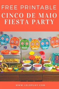 Free Printable ~ Cinco de Maio ~ Fiesta Birthday Party Ideas Fiesta Forever! I just love all the bright colors, food and drinks that are traditional to this holiday! Cinco de Mayo is next week are your prepared for your Fiesta?
