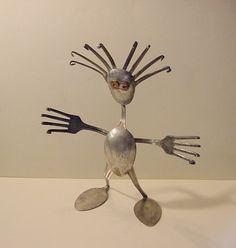 original silverware sculpture flatware  von HouseOfPhlegethon
