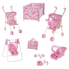 Doesn't have to be this set exactly, but Doll accessories. Especially a stroller!
