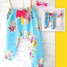 Baby Girl Floral Harem Pants by BubbyMakesThree on Etsy, $28.00